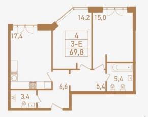 Фото планировки Городские резиденции SPIRES от TEKTA GROUP. Жилой комплекс SPIRES