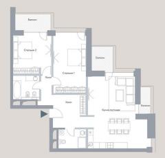 Фото планировки HILL8 от Сити XXI век. Жилой комплекс ХИЛЛ8