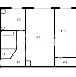Продажа 2-комн квартиры на вторичном рынке Кронштадт г., Посадская ул. ,  д. 25
