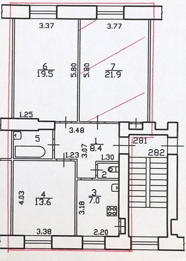 Продать Комнаты в квартирах Санкт-Петербург,  Василеостровский,  Василеостровская, 21-я линия