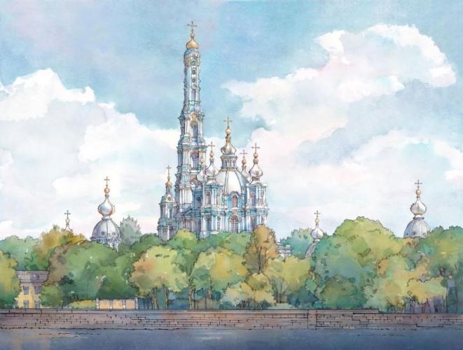 РПЦ просит воссоздать колокольню Смольного собора в Петербурге