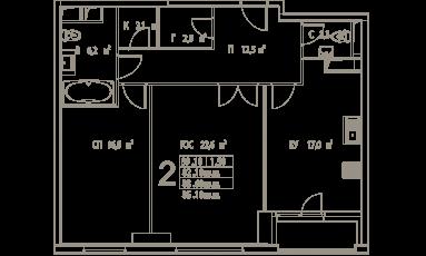 Фото планировки Дыхание от ФСК Лидер. Жилой комплекс Dyhanie