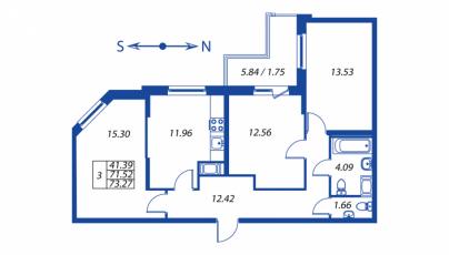 Фото планировки Полис на Комендантском от Полис групп. Жилой комплекс Polis na Komendantskom