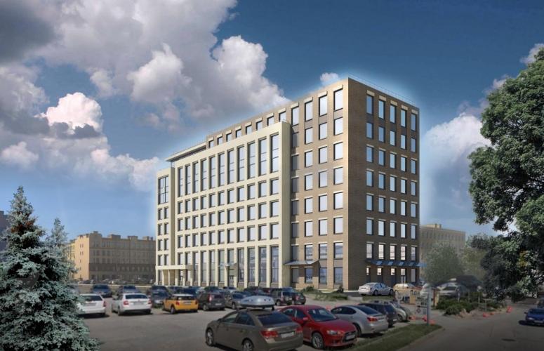К дому на Кондратьевском проспекте примкнет 8-этажный бизнес-центр