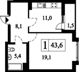 Фото планировки На Гребецкой от БФА-Девелопмент. Жилой комплекс