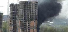 На стройплощадке ЖК «Приморский Квартал» произошло возгорание. Огонь уже потушен