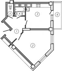 Фото планировки Радуга от Эталон ЛенСпецСМУ. Жилой комплекс Raduga
