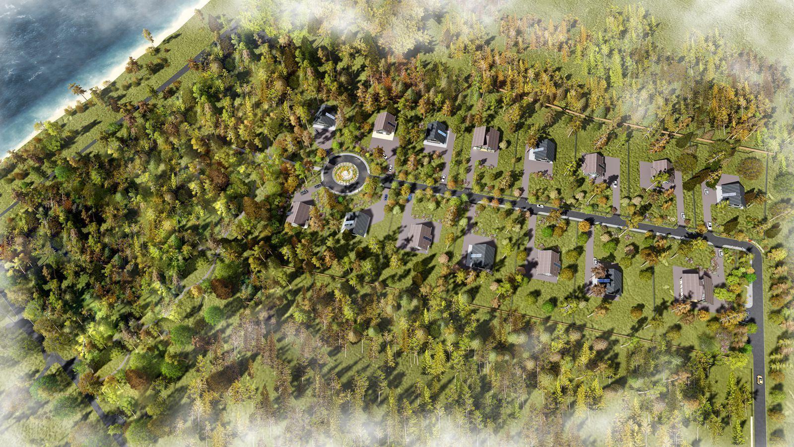 Фото коттеджного поселка Litorino от Леннорд. Коттеджный поселок Литорино