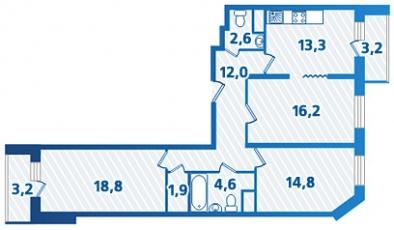 Фото планировки Лесная сказка от Парус. Жилой комплекс Lesnaya skazka