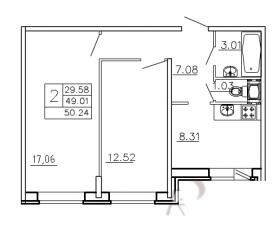 Фото планировки Девяткино от Арсенал-недвижимость. Жилой комплекс Devyatkino