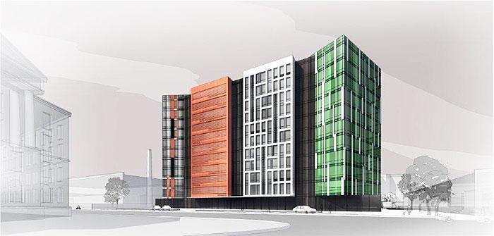 Компания «КВС» готовит к вводу в эксплуатацию бизнес-центр «Мельник» на Мельничной улице в Петербурге