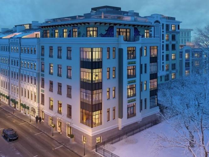 Компания «Галс-Девелопмент» завершила реконструкцию доходного дома на Поварской, комплекса апартаментов «Театральный дом»