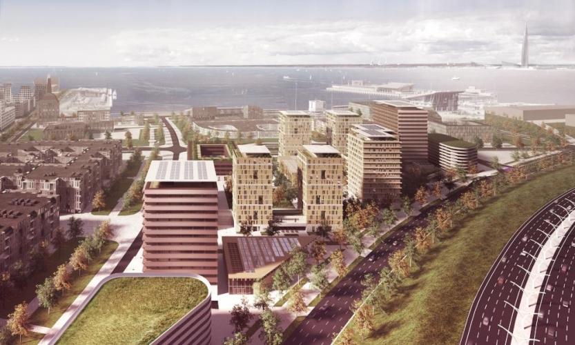 Новый квартал на намыве Васильевского острова построят по проекту британских архитекторов