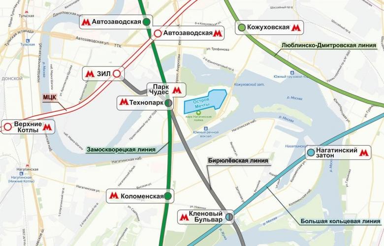 Собянин: новая станция метро «Парк чудес» откроется в Москве в Нагатинской пойме