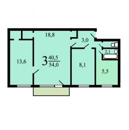 Продажа 3-комн квартиры на вторичном рынке Свободы,  д. 83,  к. 1
