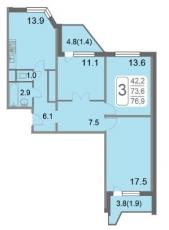 Фото планировки Кварталы 21/19 от ВекторСтройФинанс. Жилой комплекс