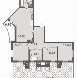 Продажа 4-комн квартиры на вторичном рынке Петровский пр-кт ,  д. 24,  к. 3