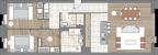 Планировка ЖК «One Trinity Place», 26.3 м2