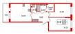 Планировка ЖК «Солнечный город Резиденции», 27 м2