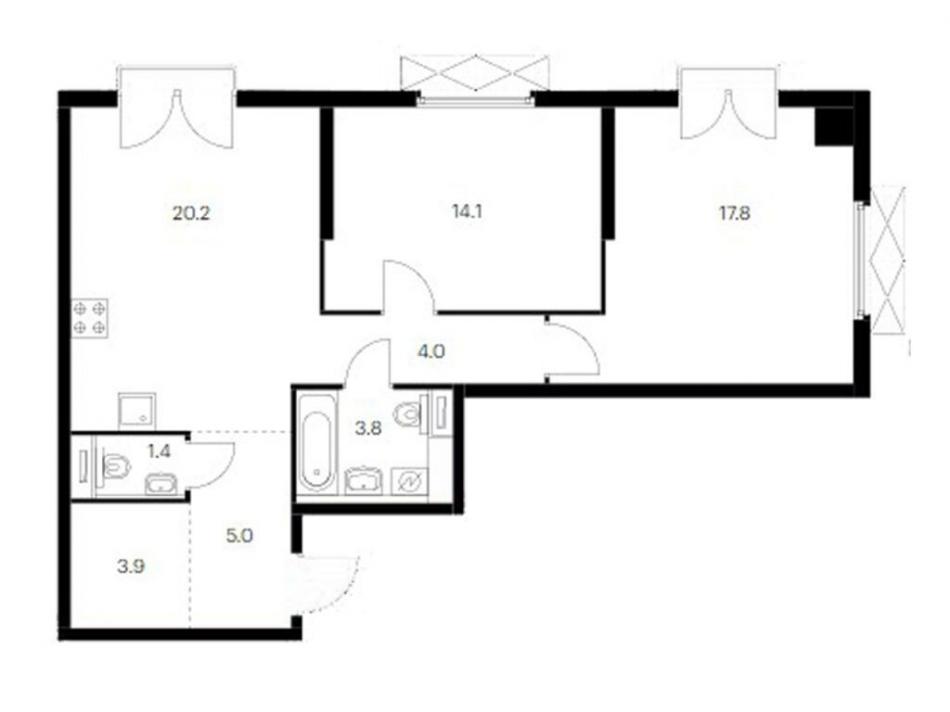 Продажа 2-комн квартиры в новостройке ул. Академика Павлова, вблизи д. 26, д. 40, корп. 56