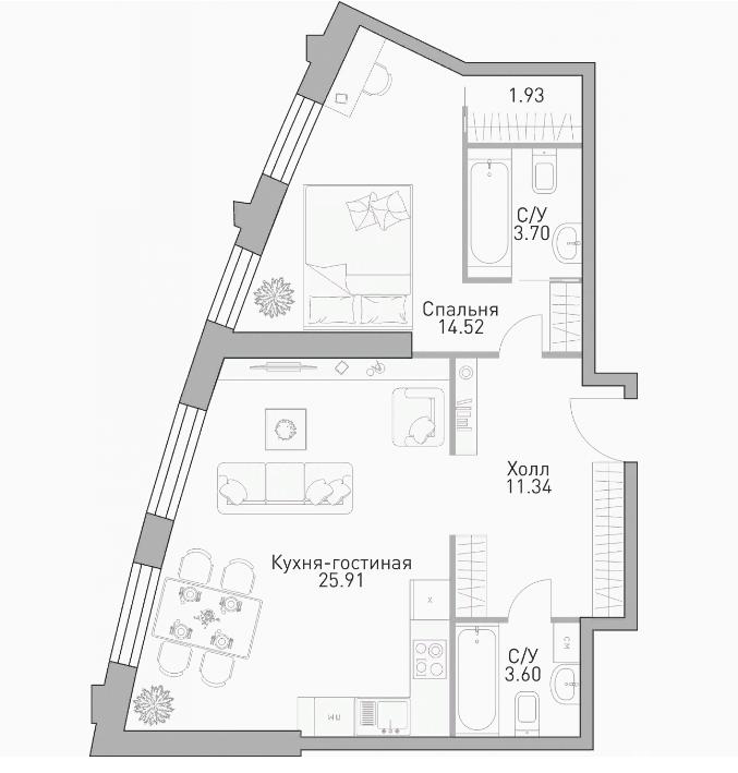 Продать Квартиры в новостройке Москва,  Раменки,  Мичуринский проспект, Лобачевского ул