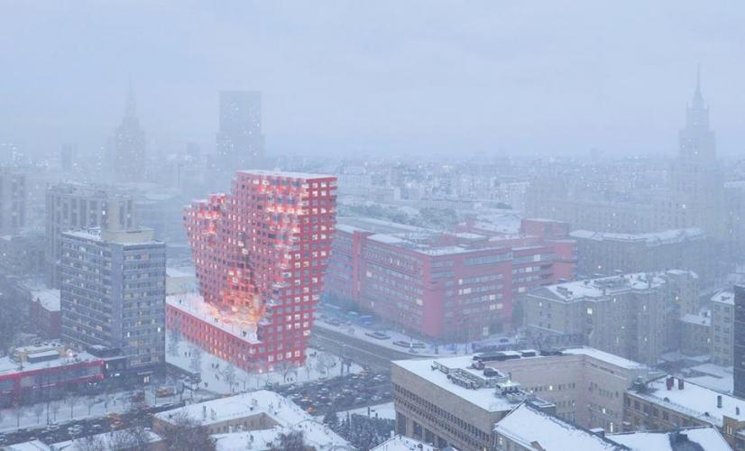 Архитектурный совет Москвы одобрил проект МФК «Силуэт» компании «Основа» внутри конструктивистской застройки