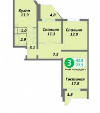 Фото планировки Вершинино от Ведис Групп. Жилой комплекс Vershinino