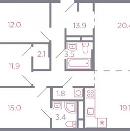 Продажа 4-комн квартиры в новостройке Красногорск, серебрянка улица , корп. 1