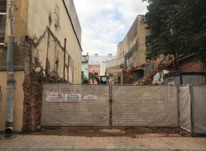 Демонтаж флигеля усадьбы Долгоруковых приостановлен