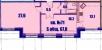 Планировка ЖК «Династия», 33.8 м2