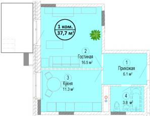 Фото планировки Мишино от Ингеоком. Жилой комплекс Mishino