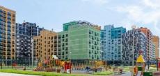 Завершаются фасадные работы в доме №9 ЖК «Лучи»