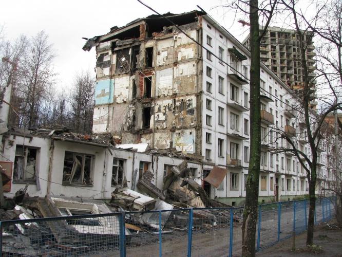 Снос хрущевок в столичном районе Кунцево освободил место для строительство 1 млн кв. м жилья