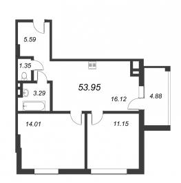Продажа 2-комн квартиры в новостройке Санкт-Петербург г., Крыленко ул.,  к. 2