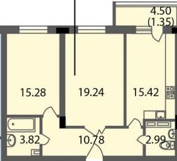 Фото планировки Мендельсон от Балтийская коммерция. Жилой комплекс Mendelson