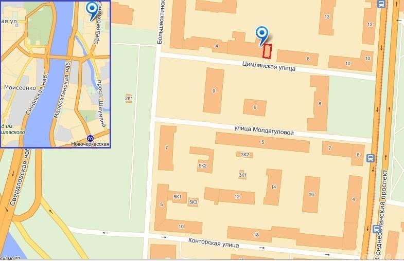 Сдать в аренду Офисы Санкт-Петербург,  Красногвардейский,  Новочеркасская, Цимлянская ул