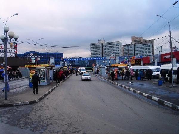 На месте Петровско-Разумовского рынка в Москве построят ТПУ