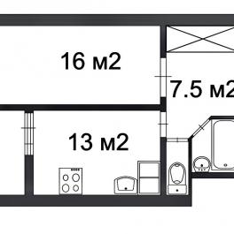 Продажа 1-комн квартиры на вторичном рынке Русановская,  д. 19,  к. 4
