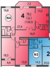 Фото планировки Химки, мкр. Сходня, 3-й Мичуринский тупик, корп. 6 от Азбука жилья. Жилой комплекс