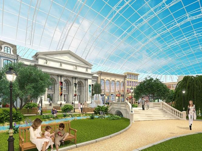 Парк «Остров мечты» в Москве накрыл крупнейший стеклянный купол в Европе