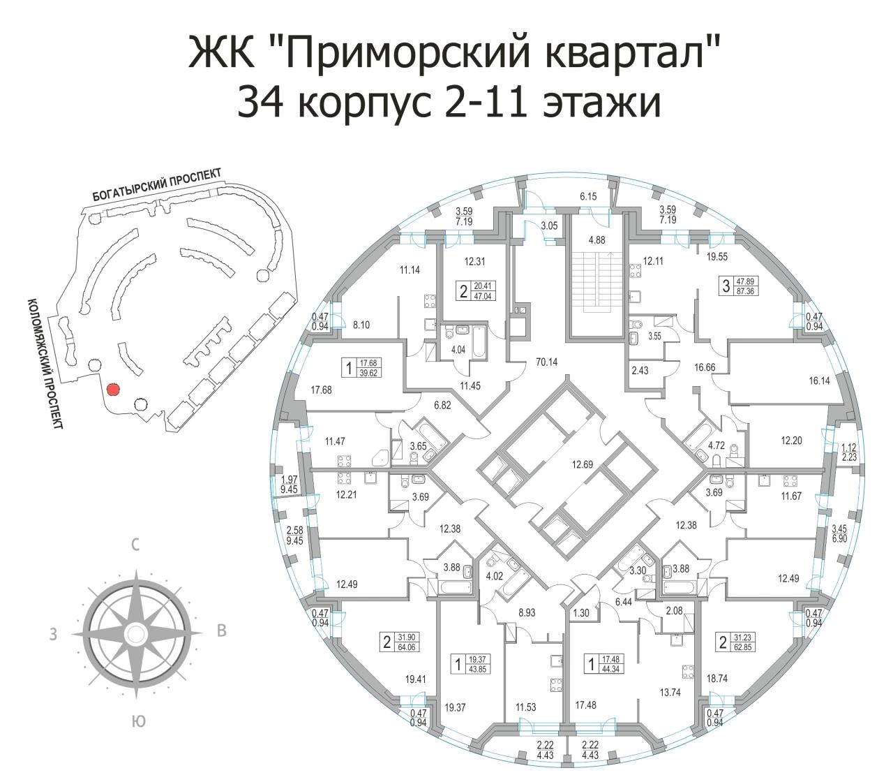 Продать Квартиры в новостройке Санкт-Петербург,  Приморский,  Пионерская, Коломяжский пр-кт