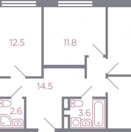 Продажа 4-комн квартиры в новостройке Красногорск, серебрянка улица , корп. 5