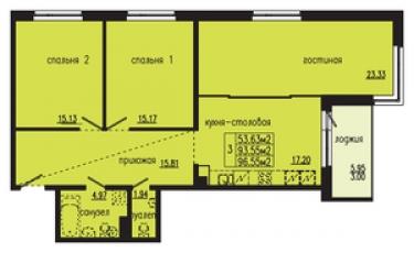 Фото планировки Шведская крона от Bonava. Жилой комплекс