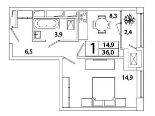 Фото планировки SREDA от Группа ПСН. Жилой комплекс СРЕДА