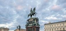 В Петербурге началась реставрация памятника императору Николаю I
