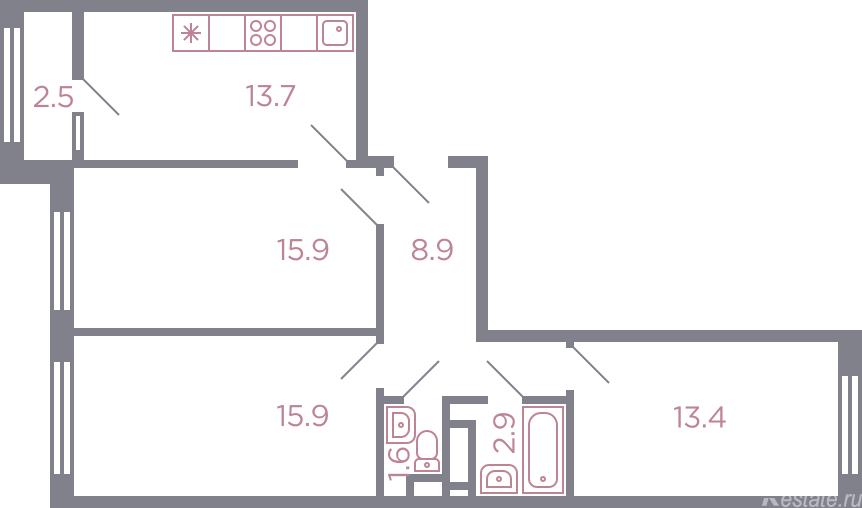 Продажа 3-комн квартиры в новостройке Красногорск, серебрянка улица , корп. 5