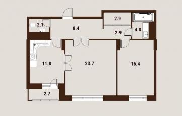 Фото планировки Вавилов Дом от Центр-Инвест. Жилой комплекс ВавиловДом