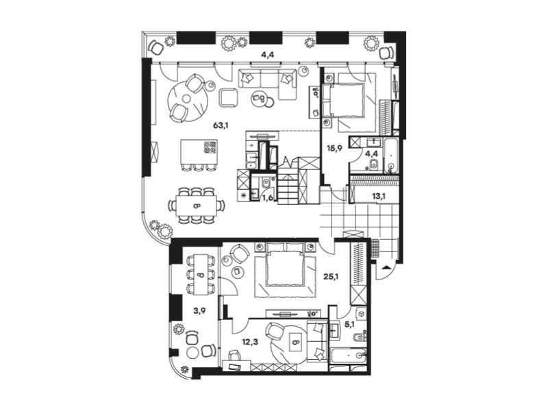 Продажа 6-комн квартиры в новостройке Волоколамское шоссе, д. 81, стр. 2