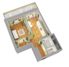 Фото планировки Sky Parks от АЛВЕК. Жилой комплекс Скай Паркс