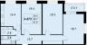 Планировка ЖК «Жемчужный фрегат», 55.4 м2